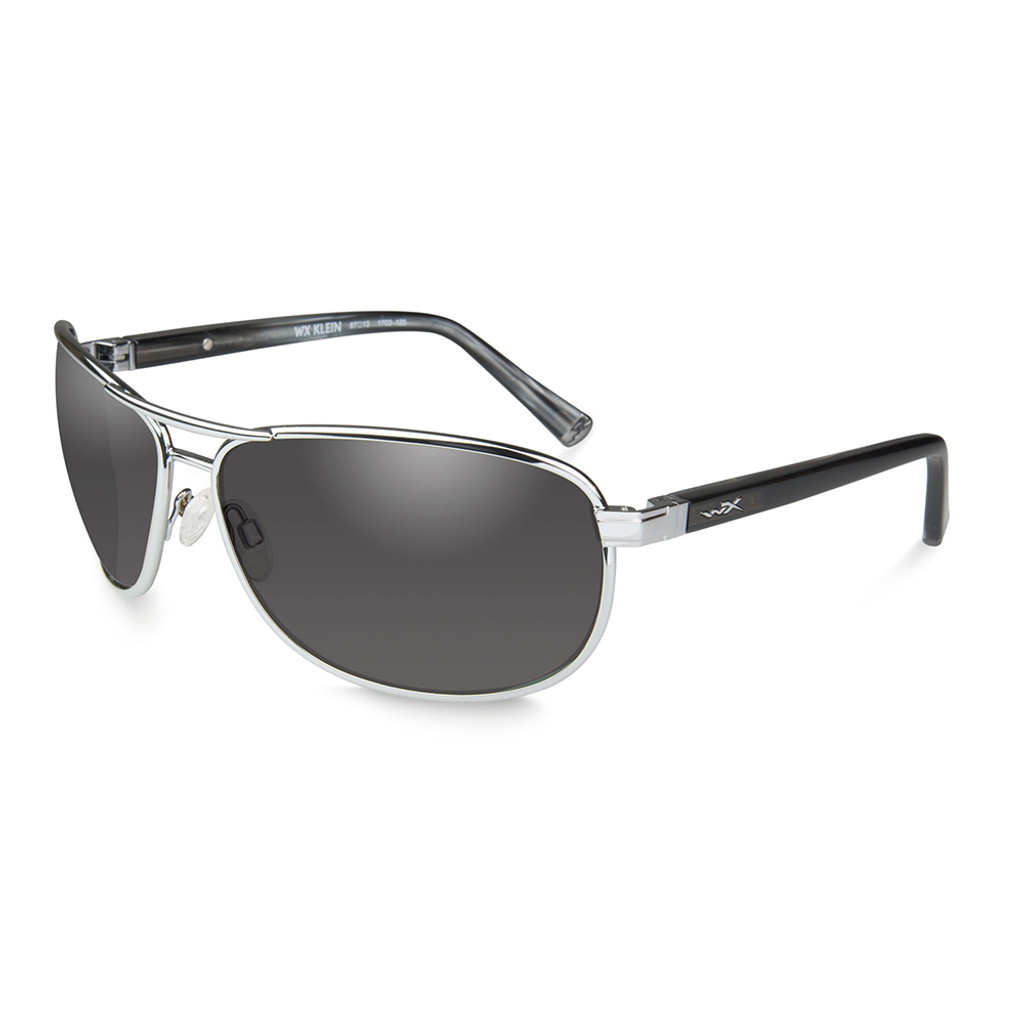 Wiley X Klein | Smoke Grey Lens w/ Silver Frame
