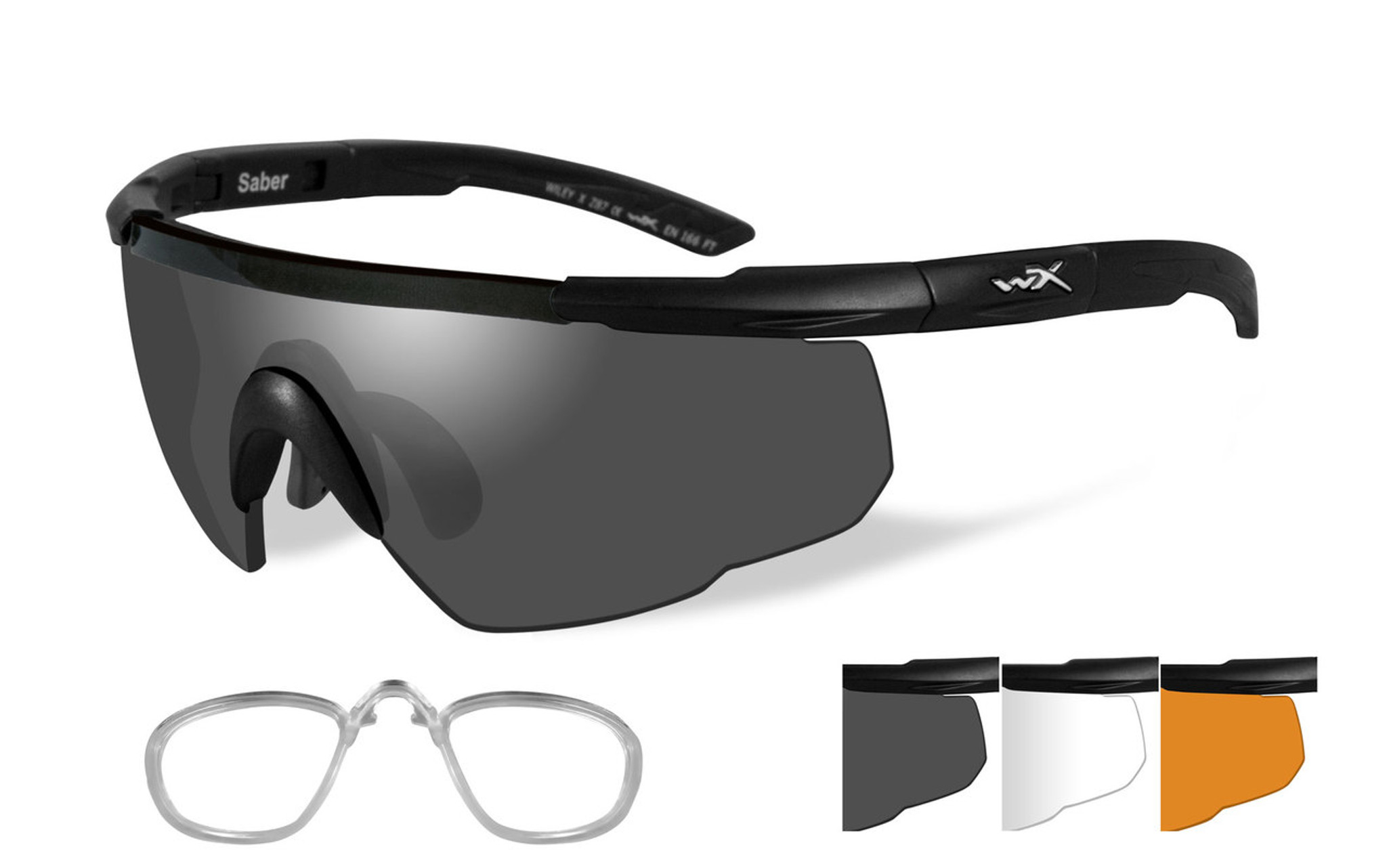 6dcc5e5b167f Wiley X Saber Advanced | Three Lens w/ Matte Black Frame + RX Insert ...