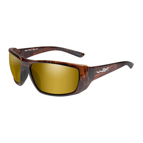 Wiley X Kobe | Polarised Gold Mirror Amber w/Hickory Brown Frame