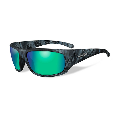 Wiley X Omega | Polarised Emerald Mirror w/Kryptek Neptune Frame