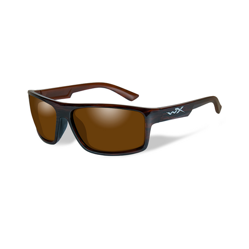 Wiley X Peak | Polarised Amber Lens w/ Gloss Layer Tortoise Frame
