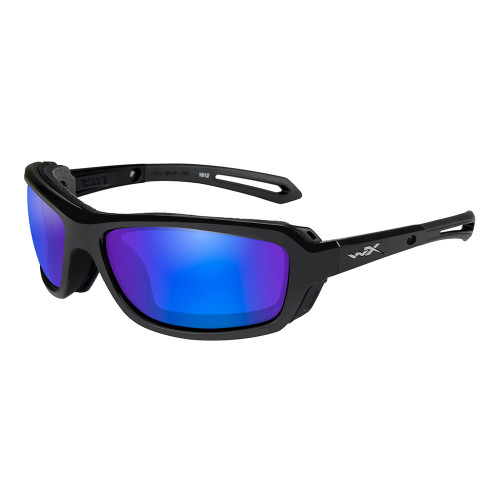 Wiley X Wave | Polarised Blue Mirror w/ Gloss Black Frame