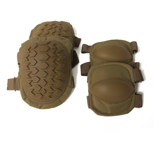 Frontline Hard Knee and Elbow Guards Kit Coyote Brown