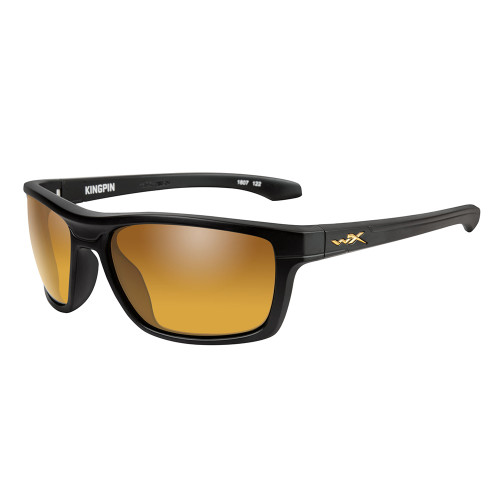 Wiley X Kingpin | Polarised Gold Mirror w/Matte Black Frame