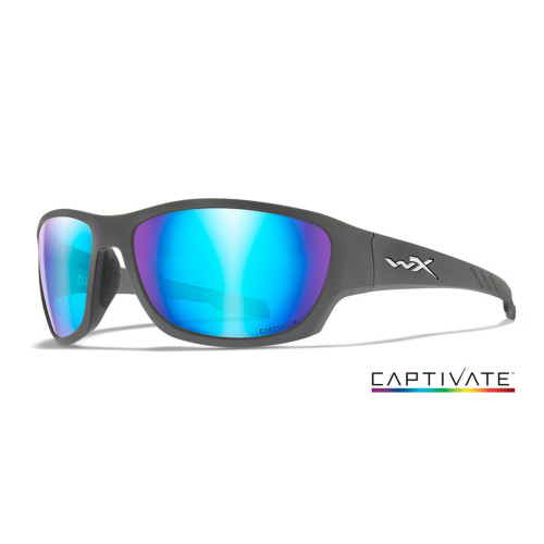 Wiley X Climb | Captivate Polarised Blue Mirror Lens w/ Matte Grey Frame