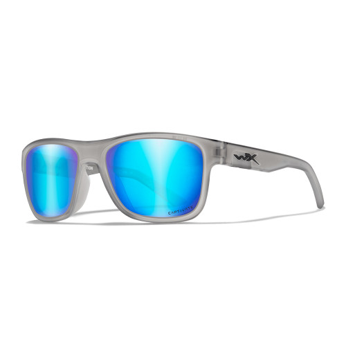 Wiley X Ovation | Captivate Polarised Blue Mirror Lens w/ Matte Slate Frame