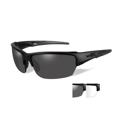 Wiley X Saint | Smoke Grey and Clear Two Lens w/Matte Black Frame