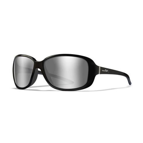 Wiley X Affinity | Grey Silver Flash Lens w/ Gloss Black Frame