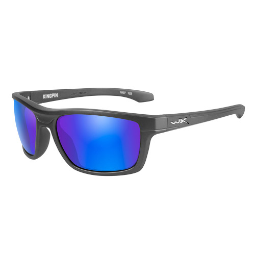 Wiley X Kingpin | Polarised Blue Mirror Lens w/Graphite Frame