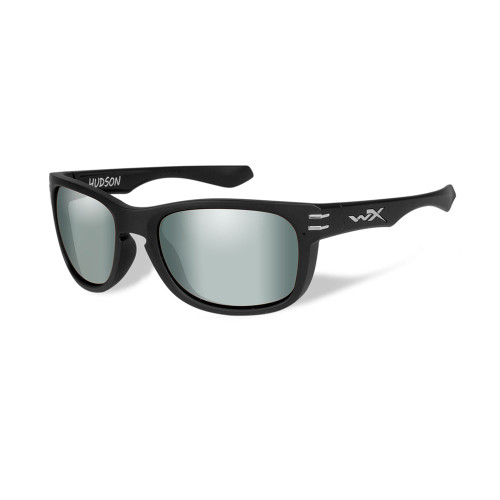 Wiley X Hudson | Polarised Platinum Flash Lens w/ Matte Black Frame