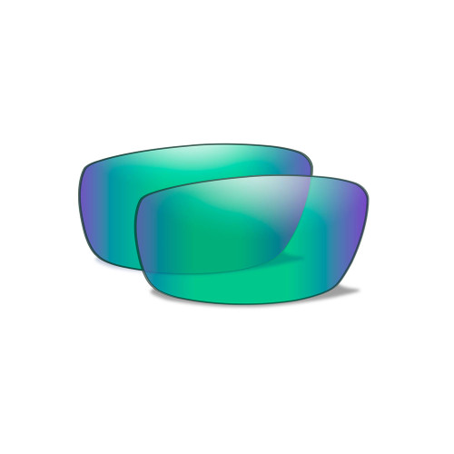 Wiley X P-17GM | Polarised Emerald Mirror Lens w/Gloss Black Frame