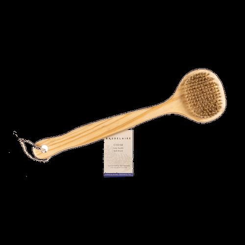 Cedar Long-Handle Bath Brush