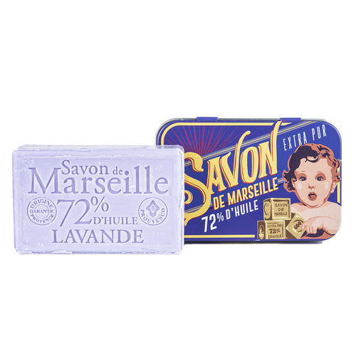 "Soap Tin Lavender ""Baby Blocks"""