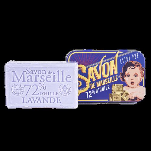 """Soap Tin Lavender """"Baby Blocks"""""""