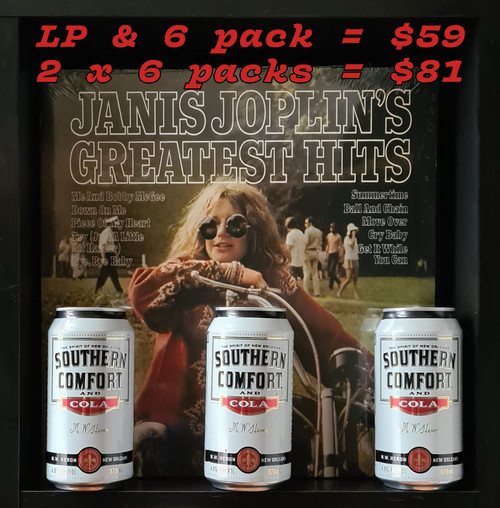 Janis Joplin's Greatest Hits LP & Southern Comfort & Cola