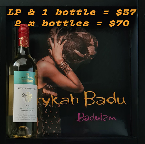 Erykah Badu's Baduizm 2LP & Limestone Coast Pinot Grigio