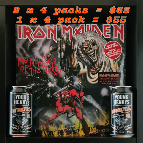 Iron Maiden's The Number of the Beast & Young Henry's Motorcycle Oil