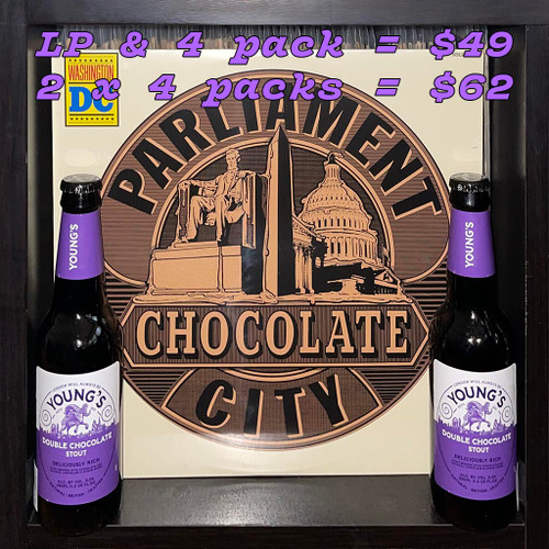 Parliament's Chocolate City LP & Young's Double Chocolate Stout