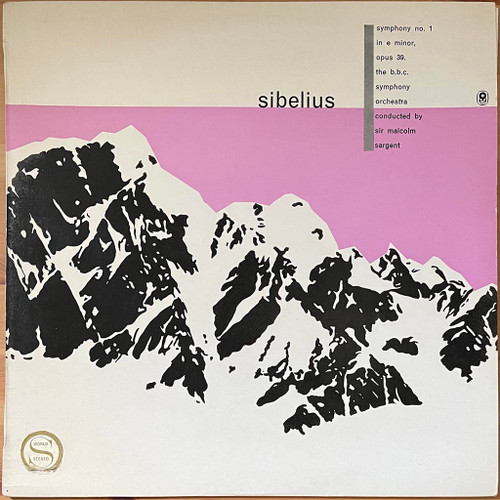 Sibelius - BBC Symphony OrchestraConducted BySir Malcolm Sargent-Symphony No. 1 In E Minor Op. 39 (LP) in NM Condition - 1962 Australian Pressing