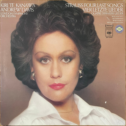 Kiri Te Kanawa,Andrew Davis,London Symphony Orchestra - Strauss-Four Last Songs / Orchestral Songs (LP) in VG+ Condition - 1978 New Zealand Pressing