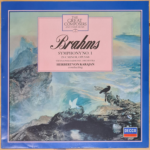 Brahms, Herbert von Karajan, Vienna Philharmonic Orchestra - Symphony No. 1 in C Minor, Op. 68 (LP) in NM Condition - 1982 Australian Pressing