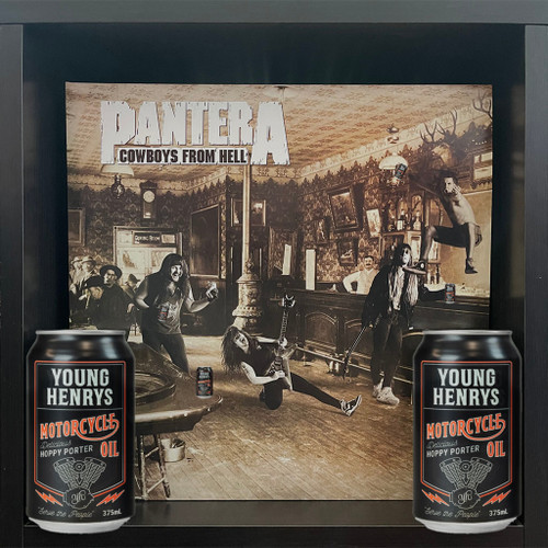 Pantera - Cowboys From Hell (LP) & Young Henrys Motorcycle Oil