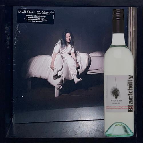 Billie Eilish's When We All Fall Asleep, Where Do We Go? (LP) Yellow Vinyl & Blackbilly Pinot Gris