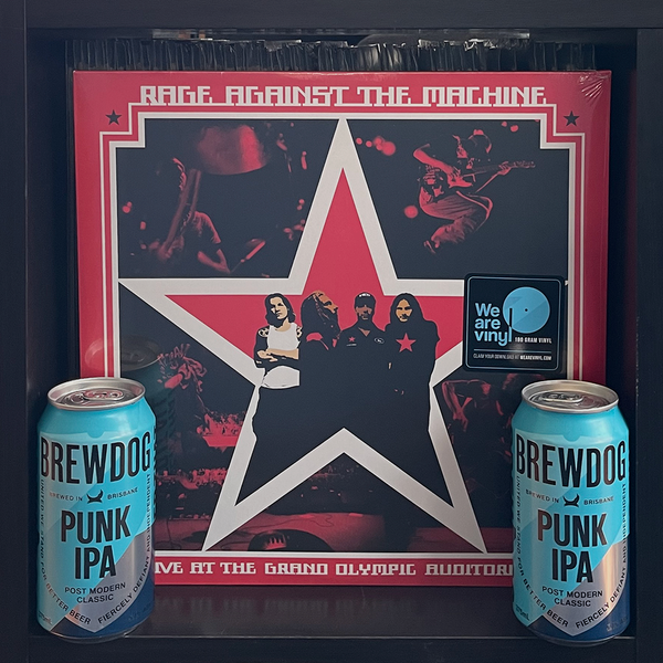 Rage Against the Machine's Live at the Grand Olympic Auditorium 2LP & BrewDog's Punk IPA
