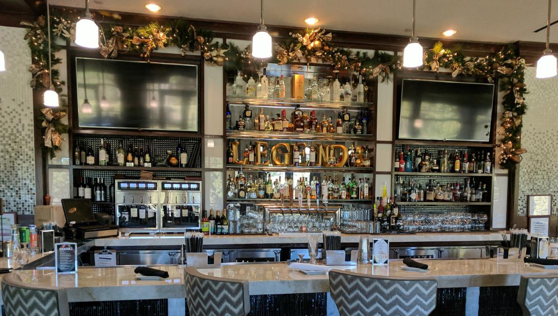 Christmas Garland Decor on Bar