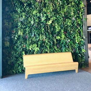 Commercial Interior Design by Creative Branch - Faux Green Wall