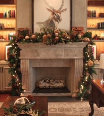 Sanford Fireplace Mantel Christmas Garland