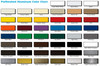 Sample color chart of colors that are available to order.  Actual color may vary from color chart.