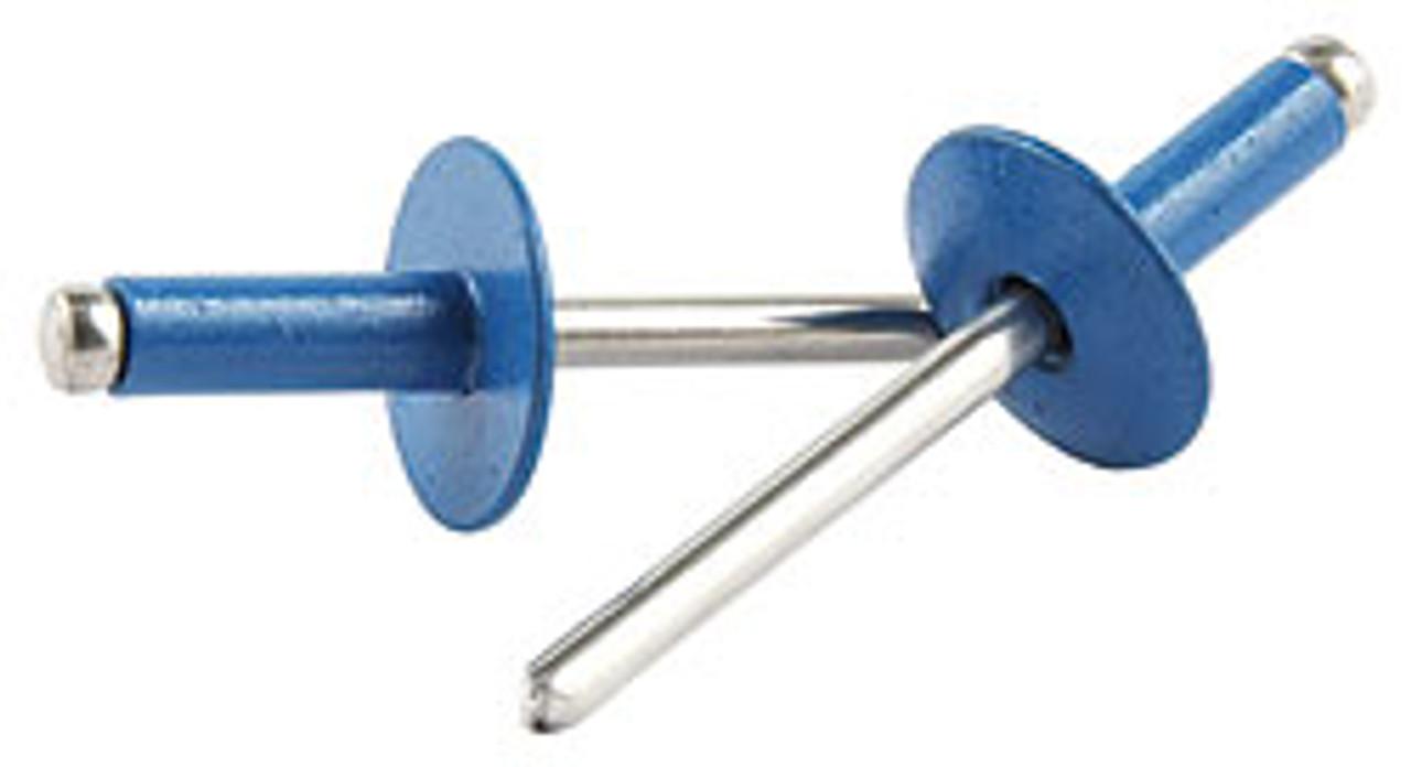 Rivets - 3/16 Aluminum/Aluminum Large Flange - Pepsi Blue (250)