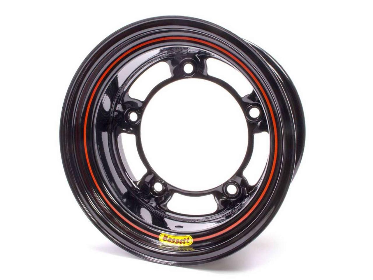 Bassett Racing Wheel 15X8 Wide 5 Powdercoat Black