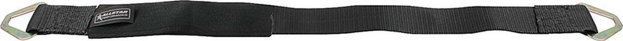 ALLSTAR PERFORMANCE 10207 Axle Tie Down, 2 in Wide, 33 in Long, 3300 lb Capacity, Delta Rings, Nylon Webbing, Black, Each