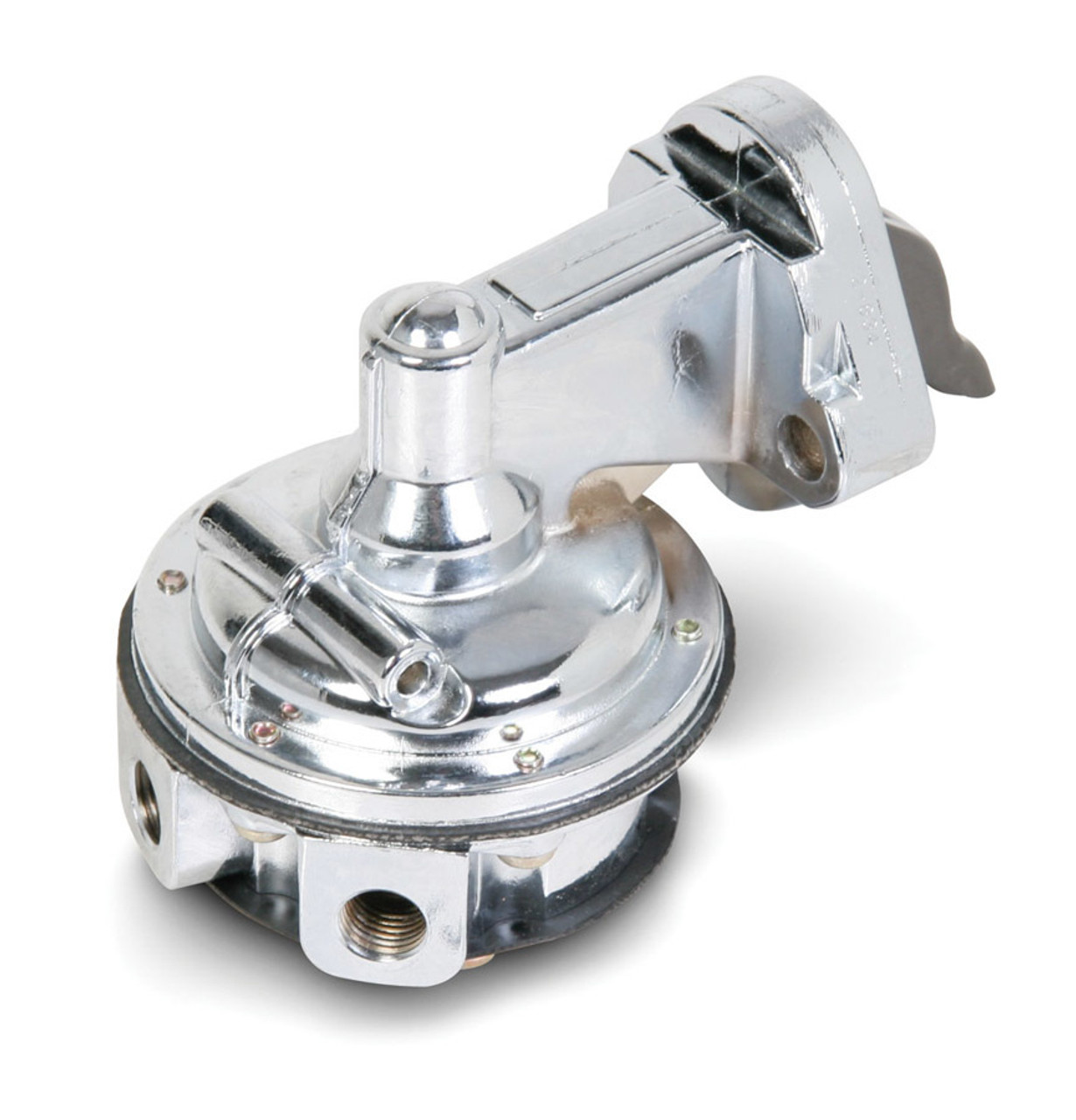 Holley 12-834 Fuel Pump, Mechanical, 80 gph, 7.8 psi, 1/4 in NPT Female Inlet / Outlet, Aluminum, Polished, Gas, Small Block Chevy,