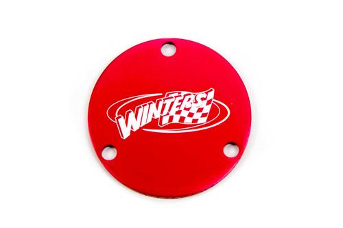 Winters 1726 Dust Cap, Red, Hub Rear IMCA