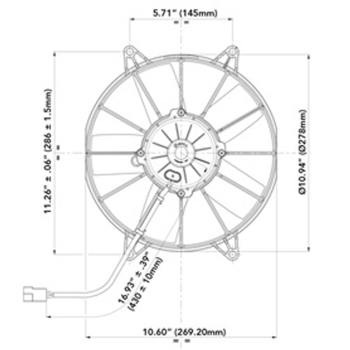 """Spal Electric Fans 10"""" Pu11 - Spal 30102057"""