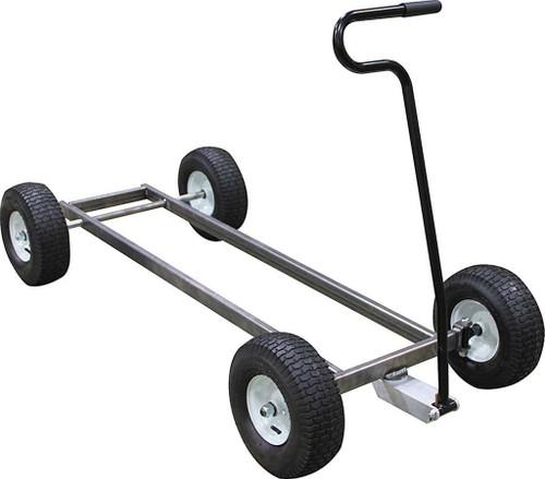 Allstar 10600 Pit Cart Chassis, 1 x 2 in Steel, Axles / Handle / Wheels, Unwelded, Kit