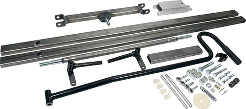ALL10601 by ALLSTAR PERFORMANCE Pit Cart Chassis, 1 x 2 in Steel, Axles / Handle, Kit