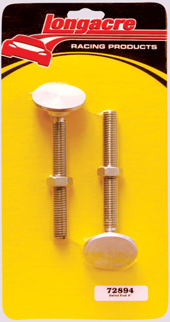 "Longacre 52-72894 Replacement Screw-In Swivel Feet - 4"" (Set of 2)"