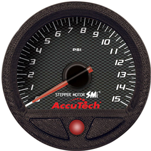 AccuTech™ SMI Fuel Pressure Gauge - 0-15 psi - Longacre 52-46535