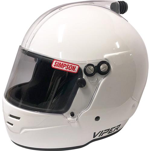 Simpson Viper AIF Racing Helmet, SA2020, Large, White