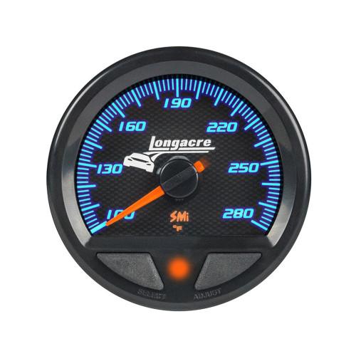 Longacre 52-46744 SMi™ Elite Waterproof Gauges, Water Temperature/Oil Temperature 100-280, Sensor Included