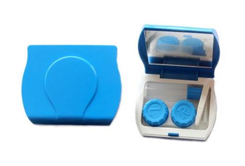 Contact lens storage kit blue