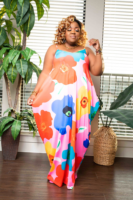 KENAYA ROMPER DRESS-FLORAL