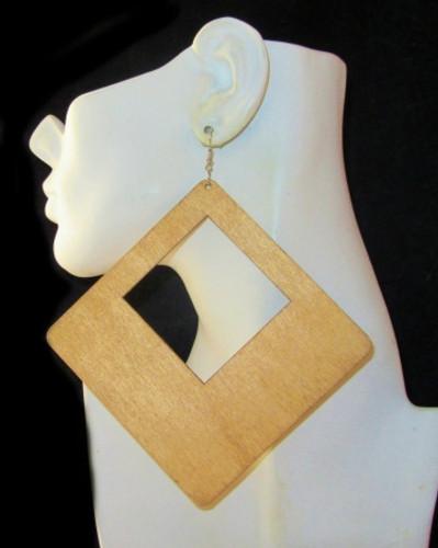 Wood Earrings-21009