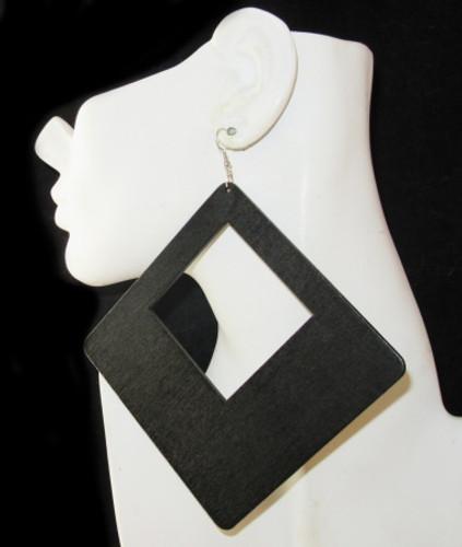 Wood Earrings-24009
