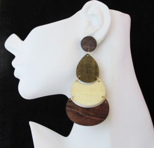 Wood Earrings-21020