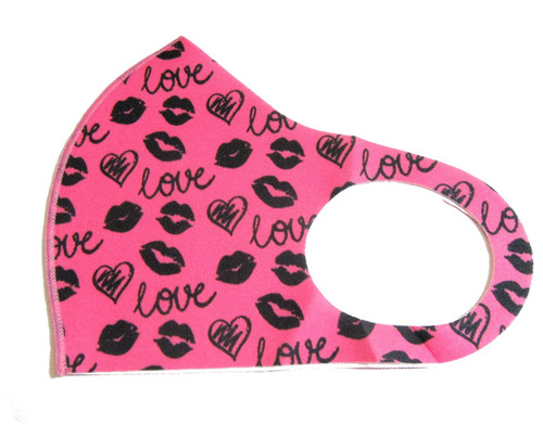 Lips Print Reusable Face Mask Washable Protection Fabric Face Cover